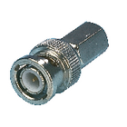 BNC-002 Connector bnc 5.0 mm male metaal zilver