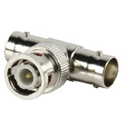 BNC-008 Bnc-adapter t-split bnc male - 2x bnc female zilver