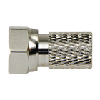 F4331114 F-connector 2.5 mm male zilver/zilver