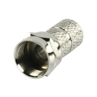 FC-010PROF F-connector 6.4 mm male metaal zilver