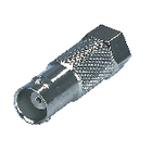 FC-023 Coax-adapter f f-male - bnc female zilver