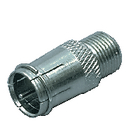 FC-027 Coax-adapter f f-male quick - f-connector female zilver