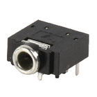 JC-128 Stereoconnector 3.5 mm female pvc zwart