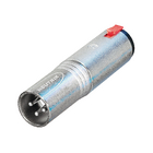 NTR-NA3MJ Xlr-adapter xlr 3-pins male - 6.35 mm female zilver