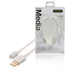 PROM104 Data en oplaadkabel apple lightning - usb a male 1.00 m wit