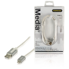 PROM105 Data en oplaadkabel apple lightning - usb a male 2.00 m wit