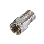 RH-F56ALM F-connector 7.0 mm male metaal zilver