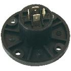 SPK-4CR Connector speaker 4-pin female pvc zwart