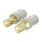 VLSP02961A Sma-adapter sma male - bnc female goud