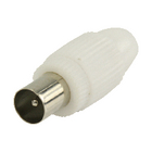 VLSP40903W Coaxconnector male pvc wit