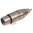 XLR-3FRCAM Xlr-adapter rca male - xlr 3-pins female zilver