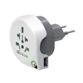 1.100210 Power travel adaptor world to ch usb