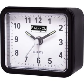 132879 Balance | alarm clock | analogue | black