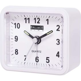 132941 Balance | alarm clock | analogue | white