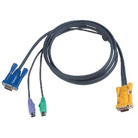 2L-5202P Kvm kabel vga male / 2x ps/2-connector - aten sphd15-y 1.8 m