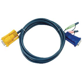 2L-5205A Kvm kabel vga male / 2x ps/2-connector / 2x 3.5 mm male - aten sphd15-y 5.0 m