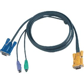2L-5206P Kvm kabel vga male / 2x ps/2-connector - aten sphd15-y 6.0 m