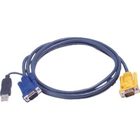 2L-5206UP Kvm kabel vga male / usb a male - aten sphd15-y 6.0 m