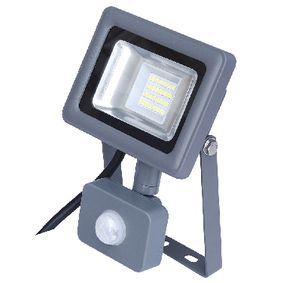 300621 Led floodlight met sensor 10 w 750 lm grijs