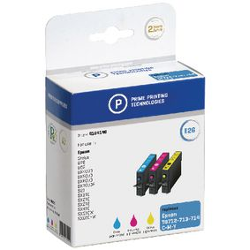 4184146 Cartridge 4184146 Replaces Epson T0712/3/4 Cyaan/Magenta/Geel 12.4 ml