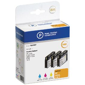 4185907 Cartridge 4185907 Replaces HP CN055AE Cyaan/Magenta/Geel 13 ml