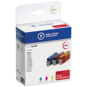 4185969 Cartridge 4185969 replaces canon cli-551c xl/cli-551m xl/cli-551y xl cyaan/magenta/geel 12 ml