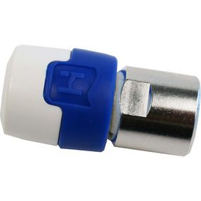 695020532 F-connector male/male aluminium/blauw