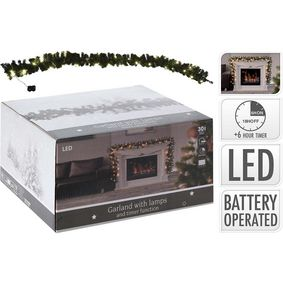 767800600 Garland | 270 cm | 30 led | timer | battery operated