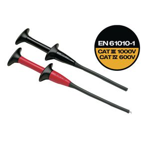 AC283 Pincer clips red/black