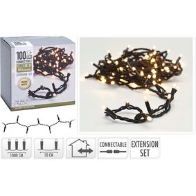 AX4231200 Connectable christmas lights | extension set | 100 led | warm white | 230 v