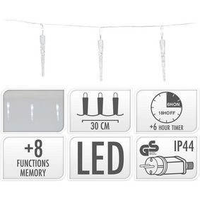AX8103060 Icicle lighting | 40 led | 6 meter lighting | white