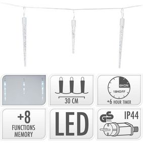 AX8103100 Icicle lighting | 72 led | 6.9 meter lighting | white