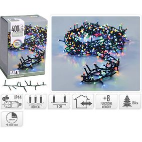 AX8510400 Micro cluster christmas lights | 400 led | 8 meter | multi colour