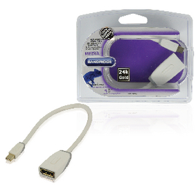 BBM37450W02 Mini displayport kabel mini-displayport male - displayport female 0.20 m wit