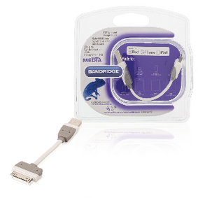 BBM39100W01 Data en oplaadkabel apple dock 30-pins - usb a male 0.10 m wit