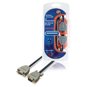 BCL1002 VGA Verlengkabel VGA Male - VGA Female 15-Pins 2.00 m Blauw