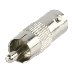 BNC-201 BNC-Adapter RCA Male - BNC Female Zilver