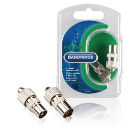BPP655 Coaxconnector male + female zilver