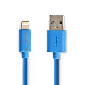 CCGP39300BU10 Sync and charge-kabel | apple lightning 8-pins male - usb-a male | 1,0 m | blauw