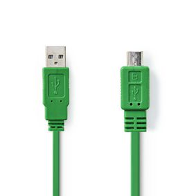 CCGP60410GN10 Usb 2.0-kabel | a male - micro-b male | 1,0 m | groen
