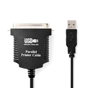 CCGP60880BK20 Printerkabel usb | usb-a male - centronics 36-pins male | 2,0 m | zwart