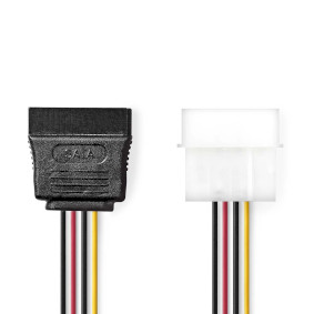 CCGP73500VA015 Interne Voedingskabel | Molex Male - SATA 15-Pins Female | 0,15 m | Diverse