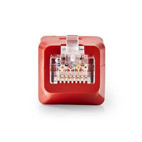 CCGP89251RD CAT6 Crossover-Netwerkadapter | RJ45 Male - RJ45 Female | Rood