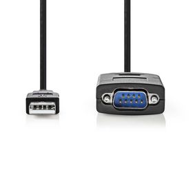 CCGW60852BK09 Converter | usb a male naar rs232 male | usb 2.0 | 0,9 m kabel