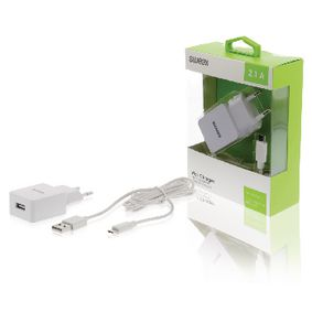 CH-003WH Lader 1-Uitgang 2.1 A Micro-USB Wit