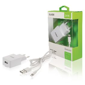 CH-004WH Lader 1-uitgang 2.4 a apple lightning wit