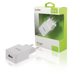 CH-019WH Lader 1-Uitgang 2.4 A USB Wit