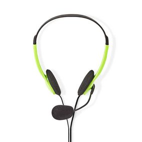 CHST100GN PC-Headset | On-Ear | 2x 3,5 mm Connectoren | 2,0 m | Groen