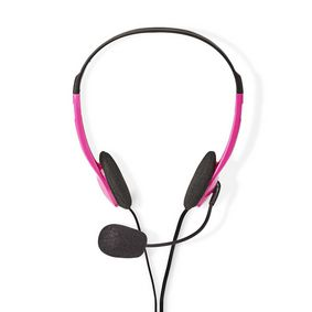 CHST100PK PC-Headset | On-Ear | 2x 3,5 mm Connectoren | 2,0 m | Roze