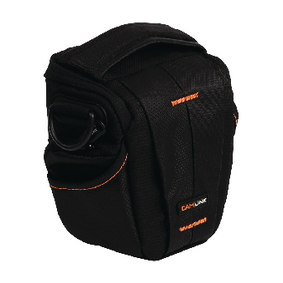 CL-CB30 Camera holster tas 128 x 133 x 70 mm zwart/oranje